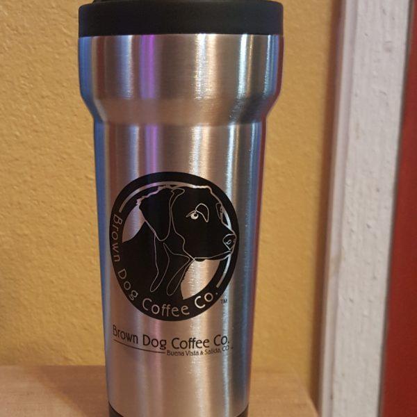 16oz Brown Dog Travel Mug