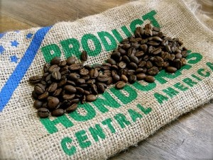 Honduran-coffee-on-burlap-sack