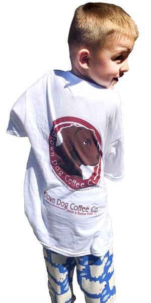 Brown Dog Coffee Co youth T-shirt