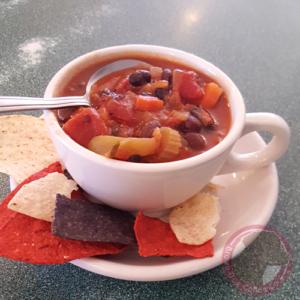delicious homemade Chili from Brown Dog Coffee Company in Buena Vista and Salida, Colorado