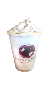Featuring Brown Dog Coffee Eggnog Latte
