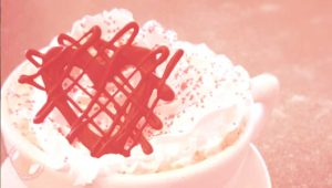 Happy Valentine's Day with Raspberry Mocha at Brown Dog Coffee Company in Buena Vista and Salida, Colorado