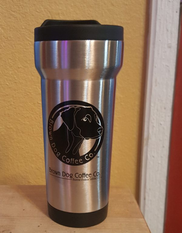 16oz Brown Dog Travel Mug