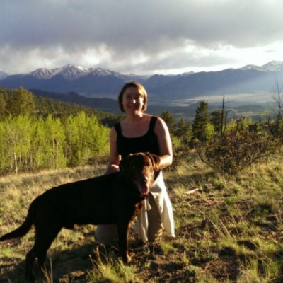 Jen and Brown Dog