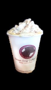 Featuring Brown Dog Coffee Eggnog Latte