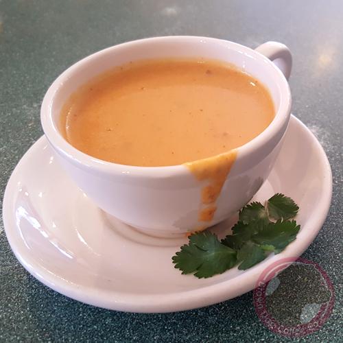 Homemade soup at Brown Dog Coffee Company in Buena Vista and Salida, Colorado