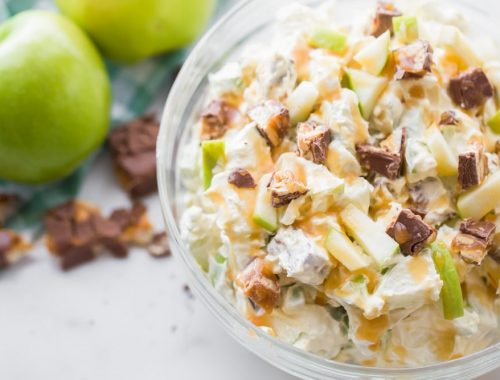 snicker apple salad from https://lilluna.com/